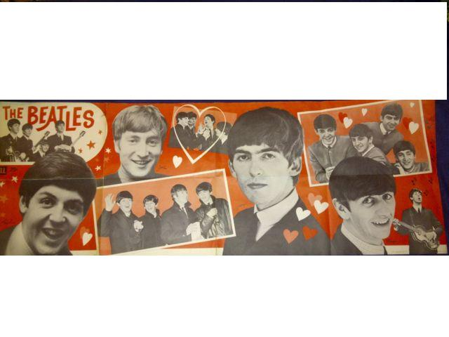 Vintage 1960s Beatles 25¢ Dell Poster