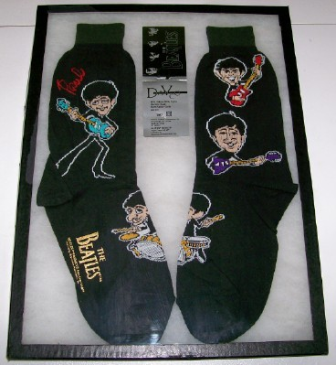 Beatles Pair Of Early Picture Socks - Davco Apple - NOS
