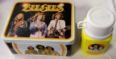Vintage 1978 Bee Gees Metal Lunch Box With Thermos