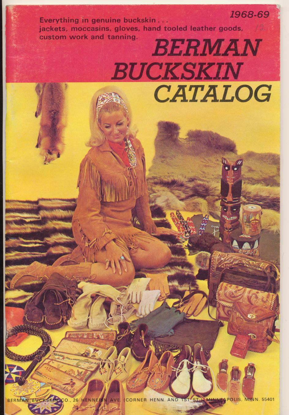 1968 Berman Buckskin Clothing & Leather Goods Catalog
