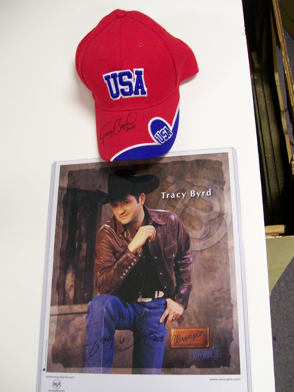 Tracy Byrd Autographed Color Photo & USA Ball Cap