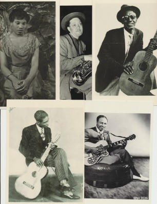Lot Of Vintage Blues Singers Photo Postcards