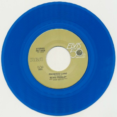 Blue Suede Shoes+Promised Land--Elvis Presley--Blue Wax W/PicSlv