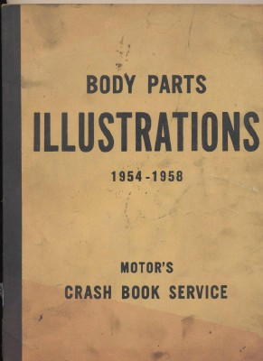 1954-1958 Body Parts Illustrations Motor's Crash Book Supplement