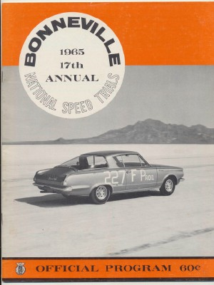 Vintage 1965 Bonneville National Speed Trials Program