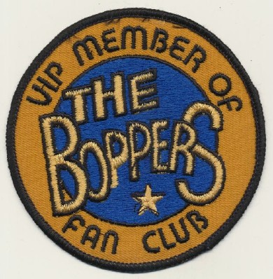 Vintage 1950s Big Bopper Fan Club Embroidered Patch