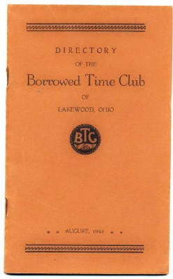 1943 Lakewood OH Borrowed Time Club Membership - Genealogy Info