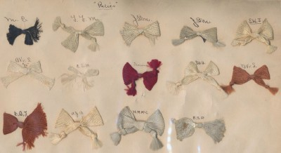 Vintage Relics Fabric Ribbon Bow Identification Card
