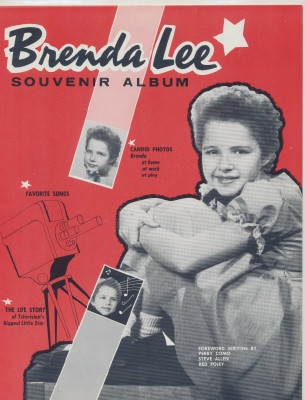 1957 Brenda Lee Souvenir Concert Album - Biography With Photos