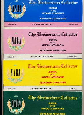 1990 Breweriana Collector Magazines - Full Year - NABA