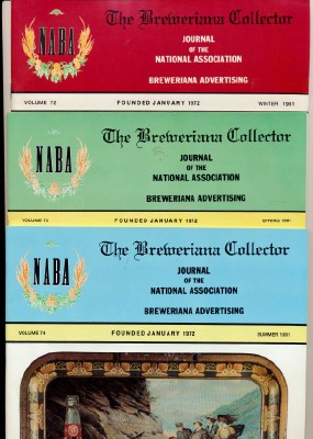 1991 Breweriana Collector Magazines - NABA - 3 Issues