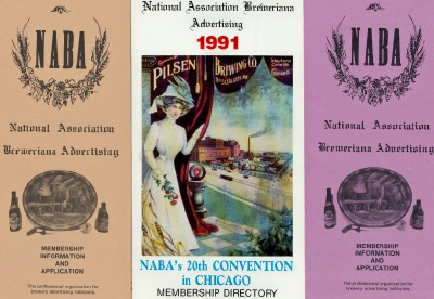 1990 & 1991 NABA Membership Directories - Breweriana Association
