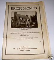1925 Brick House Floor Plan Blueprint Catalog - 64 Pages