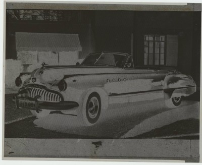 Original Photo Negative - 1949 Buick Roadmaster Convertible