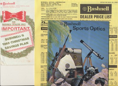1969 Bushnell Optics Catalog & Dealer Price List