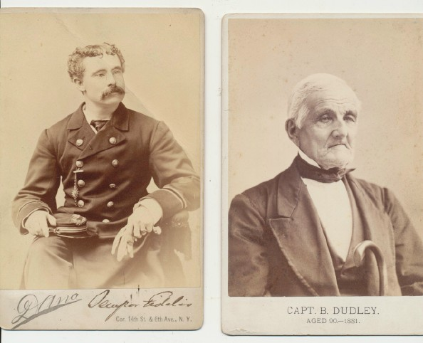 Cabinet Photo Pair - Identified Ship Captain & Ship Purser