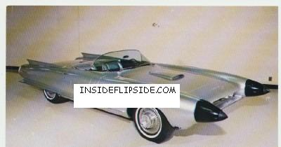 1959 Cadillac Cyclone Dream Car Prototype Postcard