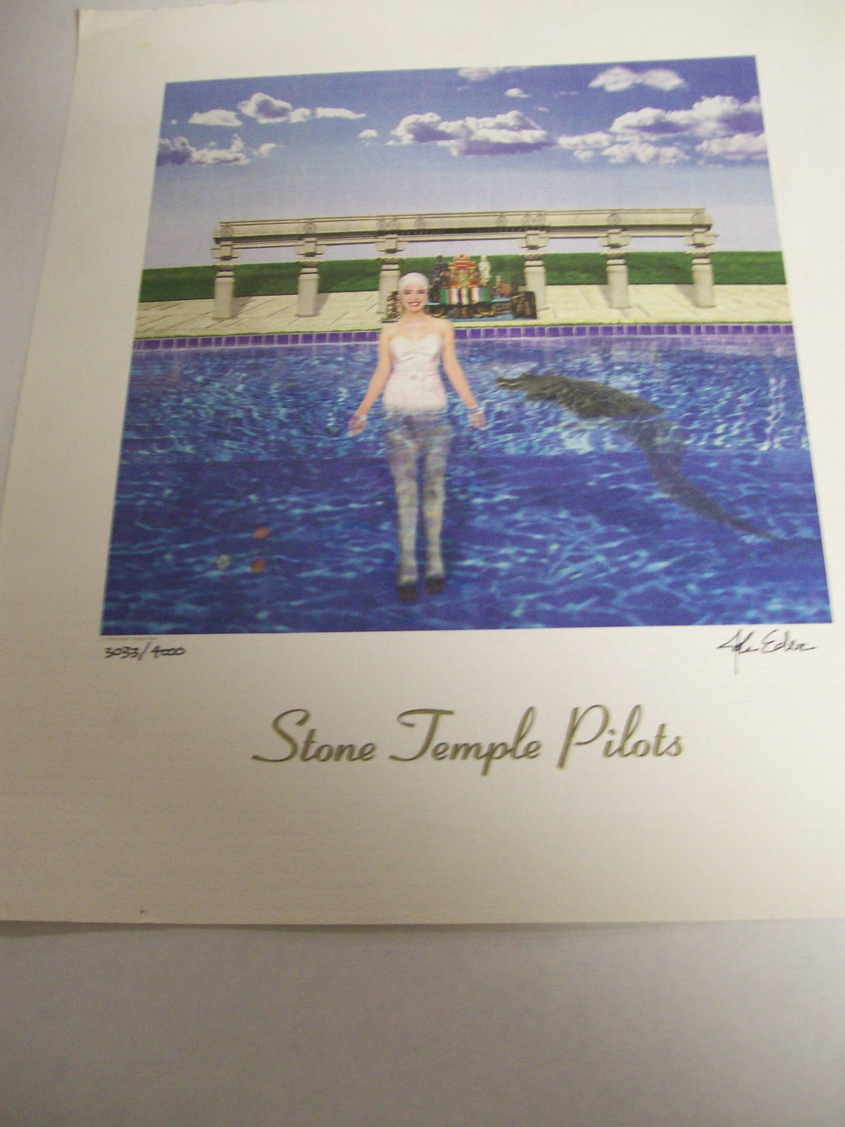 Stone Temple Pilots Signed L.P. Album Cover Artwork