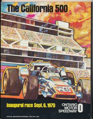 Vintge 1970 California 500 Racing Program Ontario Motor Speedway