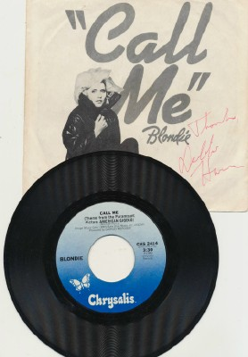 Call Me - Blondie - With Autographed Picture Sleeve 2414