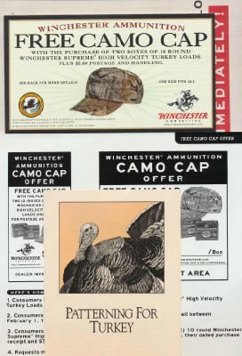 1999 Winchester Camo Hat Promo Materials + Patterning For Turkey
