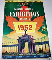 1952 Canadian National Exhibition Catalog & Program