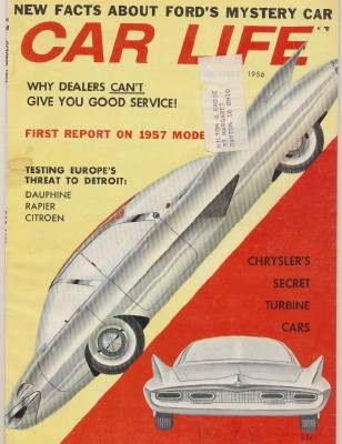 October 1956 Car Life - Chrysler Turbine - 1957 New Models ++