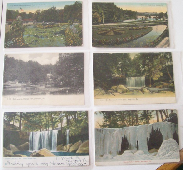 Lot Of Postcards From Cascade Park In New Castle PA