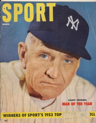 March 1954 Sport Magazine - Casey Stengel Man Of The Year Cover