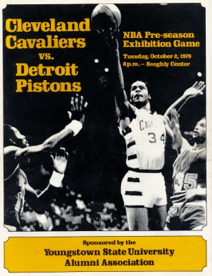 1979 Cleveland Cavaliers vs Detroit Pistons NBA Program