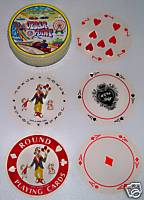 Cedar Point Souvenir Boxed Round Playing Cards With Rides