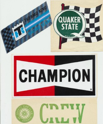 50s-80s Stock Car Racing Decal/Bumper Sticker Lot Of Ed Louther