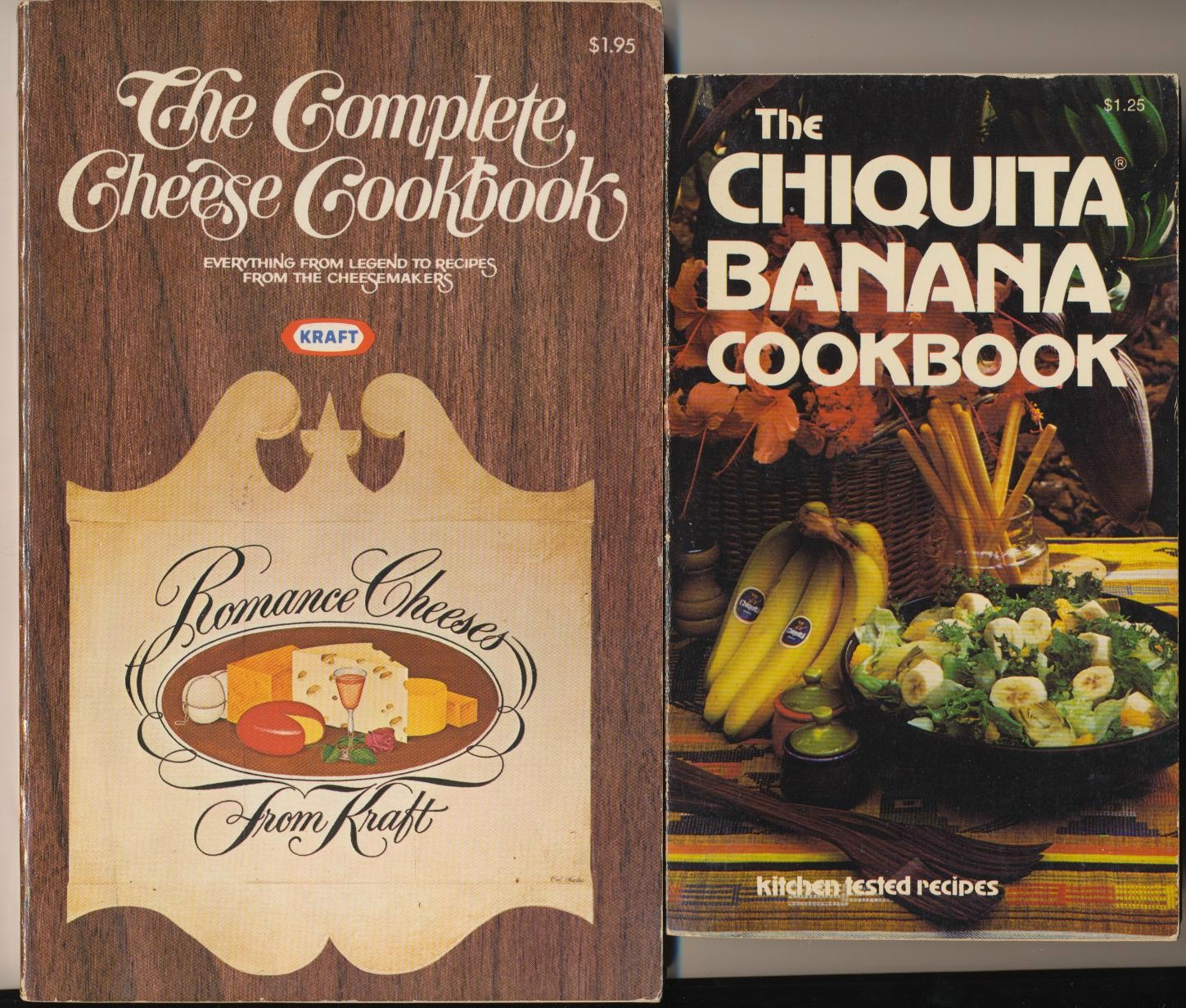 1970s Chiquita Banana & Kraft Cheese Advertising Cook Books