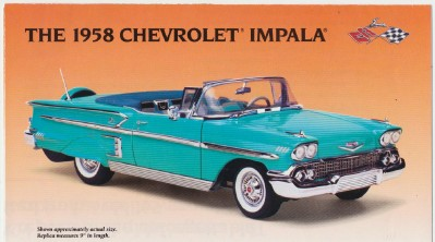 1993 Danbury Mint 1958 Chevrolet Impala Advertising Brochure