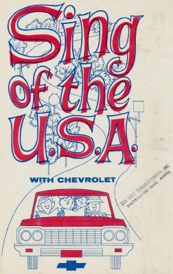 Vintage 1964 Chevrolet Advertising Song Book