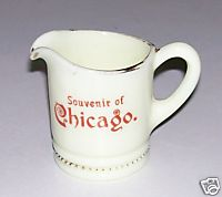 Chicago Souvenir Custard Glass Creamer