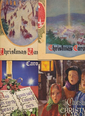 1940s-60s Christmas Carols Advertising Song Books