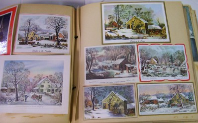 1940s-60s Christmas Card Scrapbook - 150+ Cards