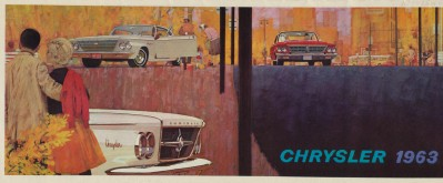 Vintge 1963 Chrysler Showroom Sales Literature Booklet