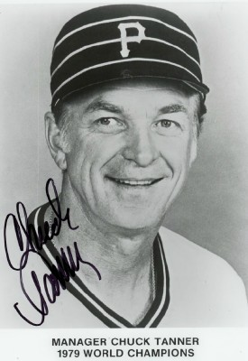 1979 Autographed Photo Of Chuck Tanner Pittsburgh Pirates Mgr