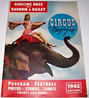 1945 Ringling Bros and Barnum & Bailey Circus Program/Magazine