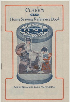Vintage 1896-1910 Clark's ONT Home Sewing Book - Fashion Pics