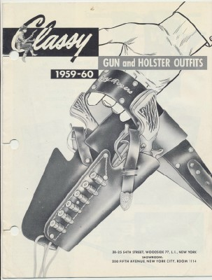 1959 Classy Gun & Holster Western Toy Dealer Trade Catalog