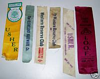 1904-06 Cleveland Ohio Lodge Badge Ribbons - 5 Different Clubs
