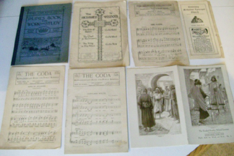 1891-1931 Mixed Lot -Public & Sunday School Music & Lesson Books