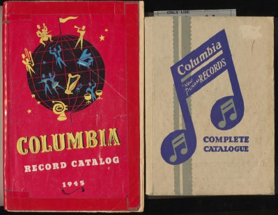 Vintage 1930 & 1945 Columbia 78 RPM Record Catalogs