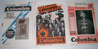 1930s Columbia 78 Record Catalog Lot
