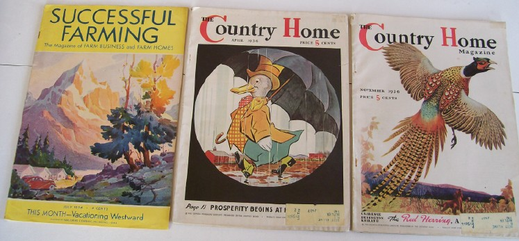 Lot Of 1936 Successful Farming & Country Home Magazines