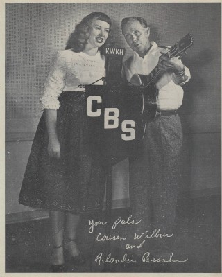 Vintage Country Music Radio Pic - Cousin Wilbur & Blondie Brooks
