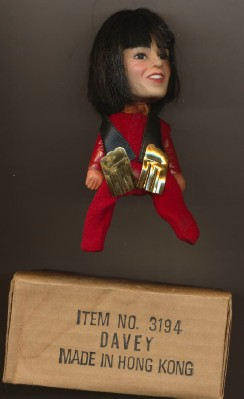 1970 Remco Monkees Davy Jones Finger Puppet Doll With Box